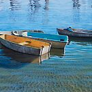 Four working boats by Freda Surgenor