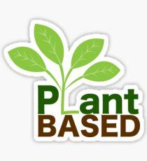 Plant Based Vegan Art Sticker
