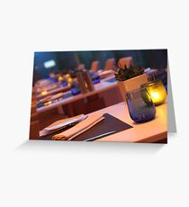 up market restaurant table Greeting Card