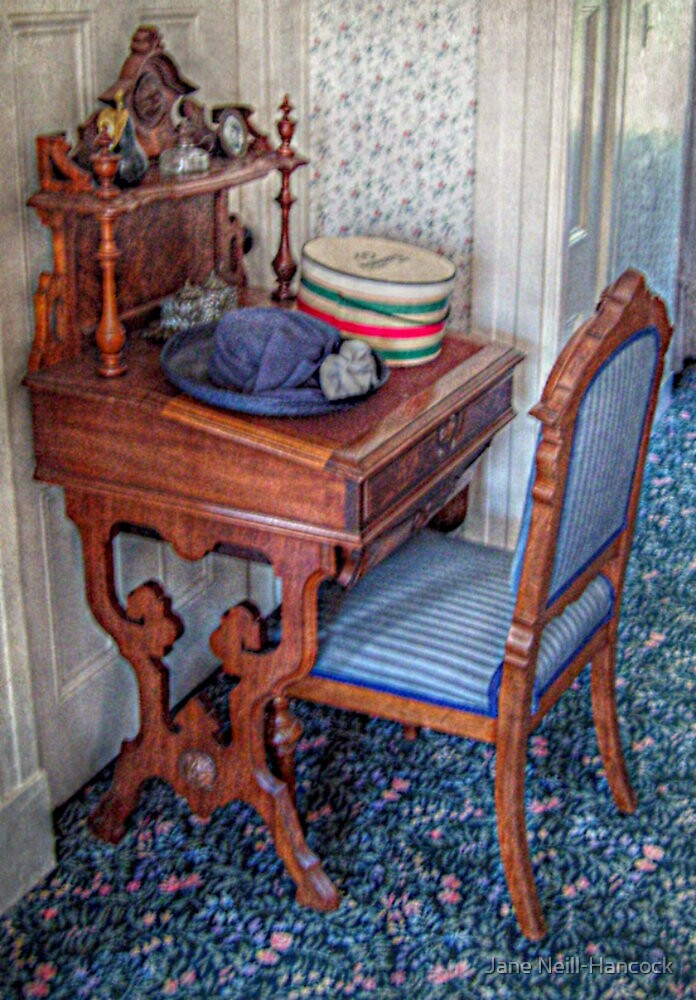 Victorian Hat, Hat Box and Desk by Jane Neill-Hancock
