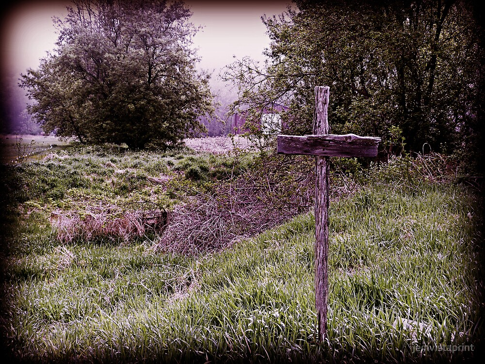 Quot Old Rugged Cross In The Field Rustic Decor Art Quot By