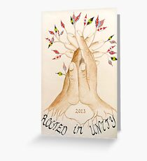 Rooted in Unity Preliminary Sketch Greeting Card