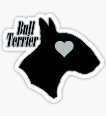 Bull Terrier <3, outlined! Sticker
