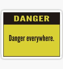 danger Sticker