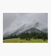 The Wild and Wet Flatirons Photographic Print