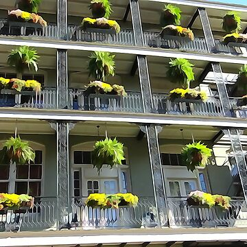 French Quarter Balconies by rammgm