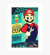 Mario Kart Race  Art Print