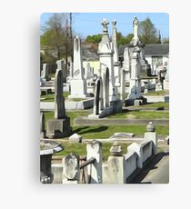 Canal St. Cemetery Canvas Print