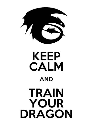 Keep calm and train your dragon by AinyRena