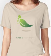 Green FootPrint Women's Relaxed Fit T-Shirt