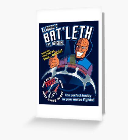 Bat'leth (the original) Greeting Card