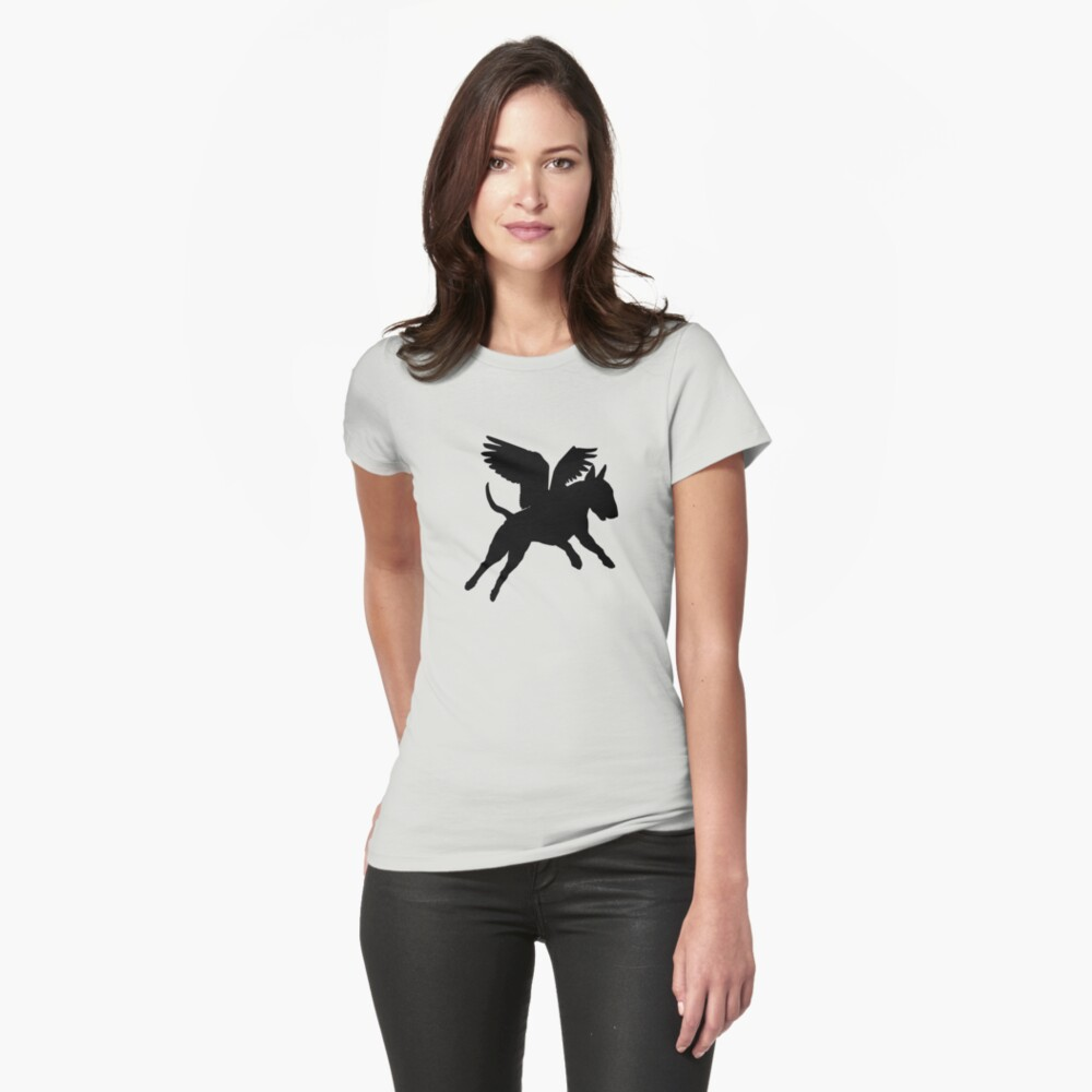 Bull Terrier--when pigs fly! Tailliertes T-Shirt