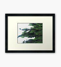 it's a green world Framed Print