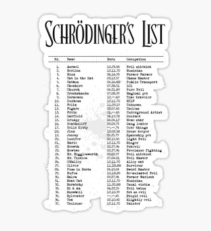 Schrödinger's List Sticker