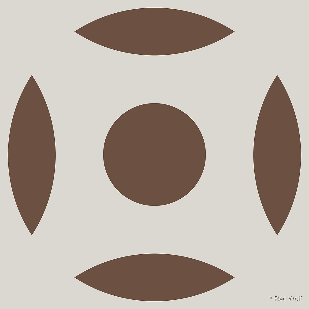 Geometric Pattern: Intersect Circle: Brownstone by * Red Wolf
