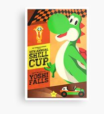 Yoshi Mario Kart Metal Print