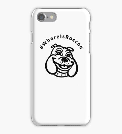 #WhereIsRoscoe (black) iPhone Case/Skin