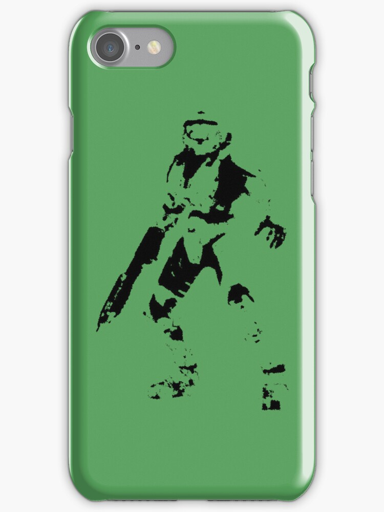 Halo Master Chief Iphone case by Sam Mobbs