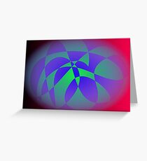 Blue Green Red Black Greeting Card