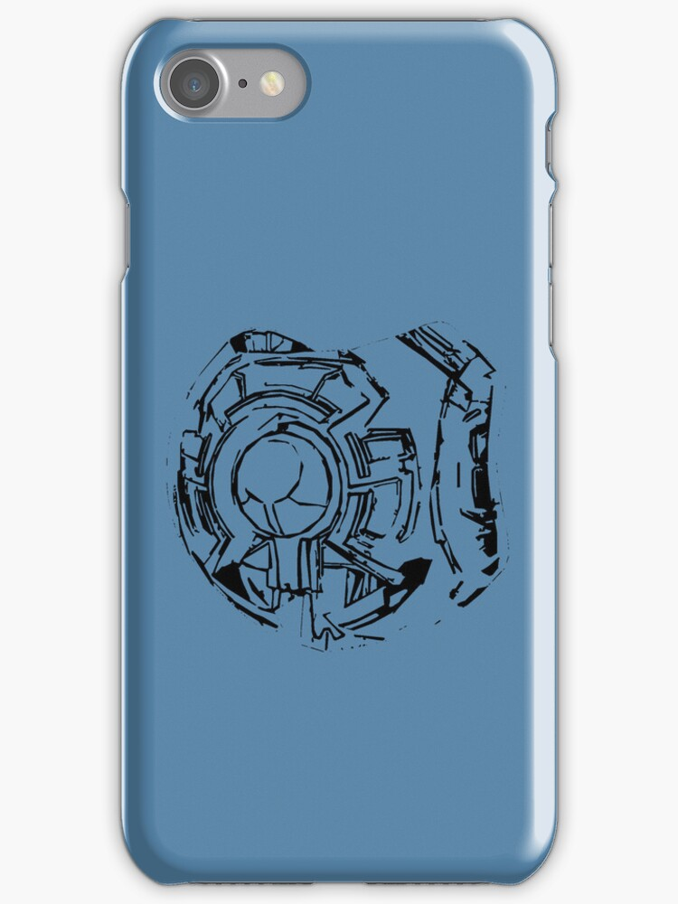 Halo guilty spark 343 iphone case by Sam Mobbs