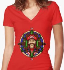 Mario's Melancholy Women's Fitted V-Neck T-Shirt