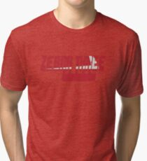 Vintage Seventies Look Zebra Three Call Sign Graphic Tri-blend T-Shirt