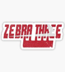 Vintage Seventies Look Zebra Three Call Sign Graphic Sticker