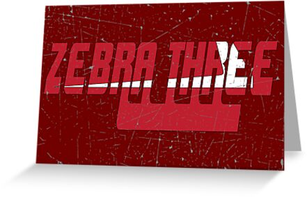 Vintage Seventies Look Zebra Three Call Sign Graphic by VintageSpirit