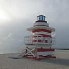 Miami Beach Lifeguard Stand by Rosie Brown