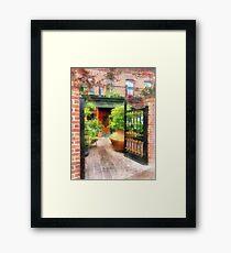 Baltimore - Restaurant Courtyard Fells Point Framed Print