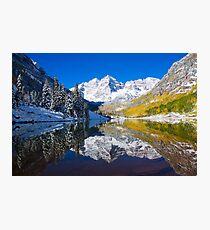 Maroon Lake and Bells, Aspen Photographic Print