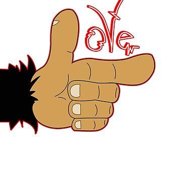 The Love hand by LokoMono