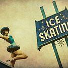 Ice Skating Rink Vintage Signage by Honey Malek