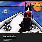 Boston Terriers Calendar Cover by offleashart