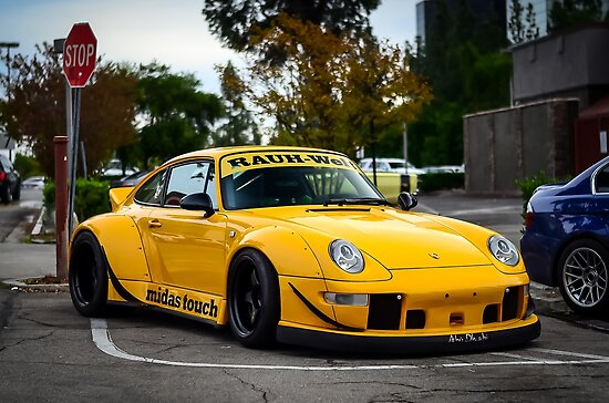 porsche 911 993 rwb posters by speed exclusive redbubble. Black Bedroom Furniture Sets. Home Design Ideas