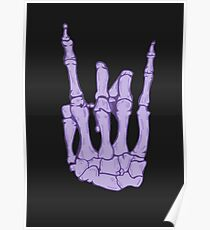 Skeleton hand | Lilac Poster