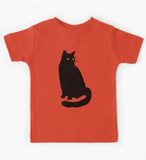 Camiseta para niños Gato negro