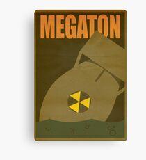 Travel poster Megaton Canvas Print