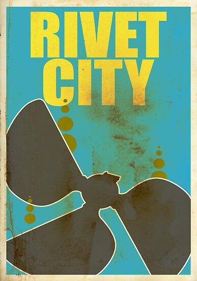 Travel poster Rivet City by cloakrunner