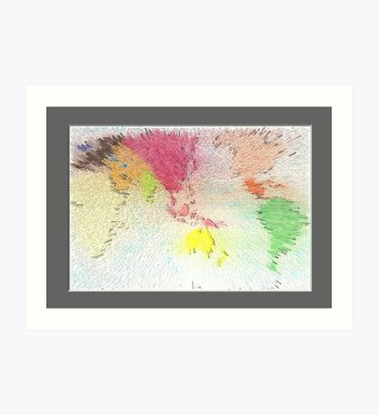 World map as art Art Print