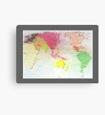 World map as art Canvas Print