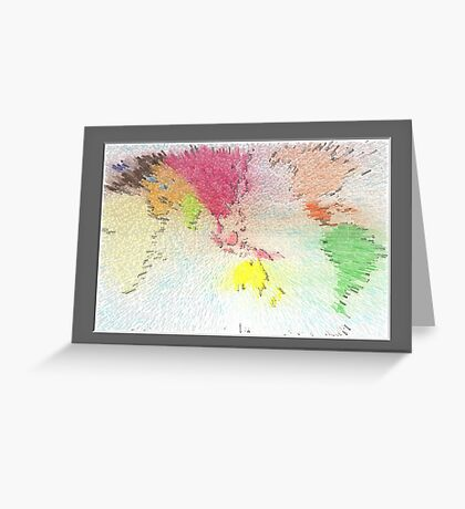 World map as art Greeting Card