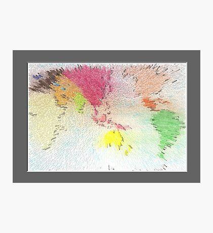 World map as art Photographic Print