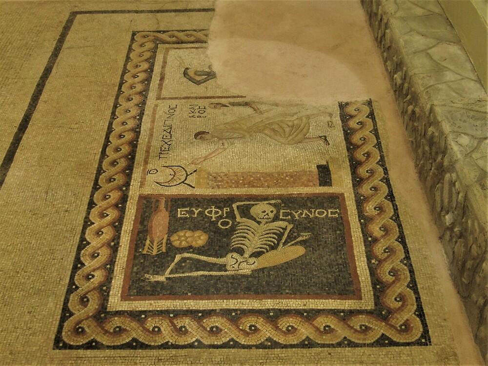 Skeleton, Sundial, African Mosaic by tomeoftrovius