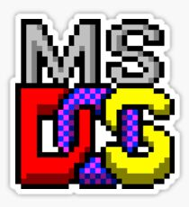MS DOS Sticker