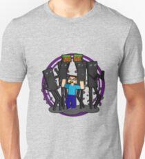 Minecraft Dancing Endermen with Steve T-Shirt