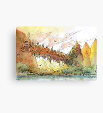 La citta' ponte! Canvas Print