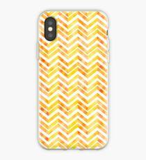 Orange Layered Chevron iPhone Case