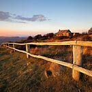Craig's Hut Sunset by Nick Skinner