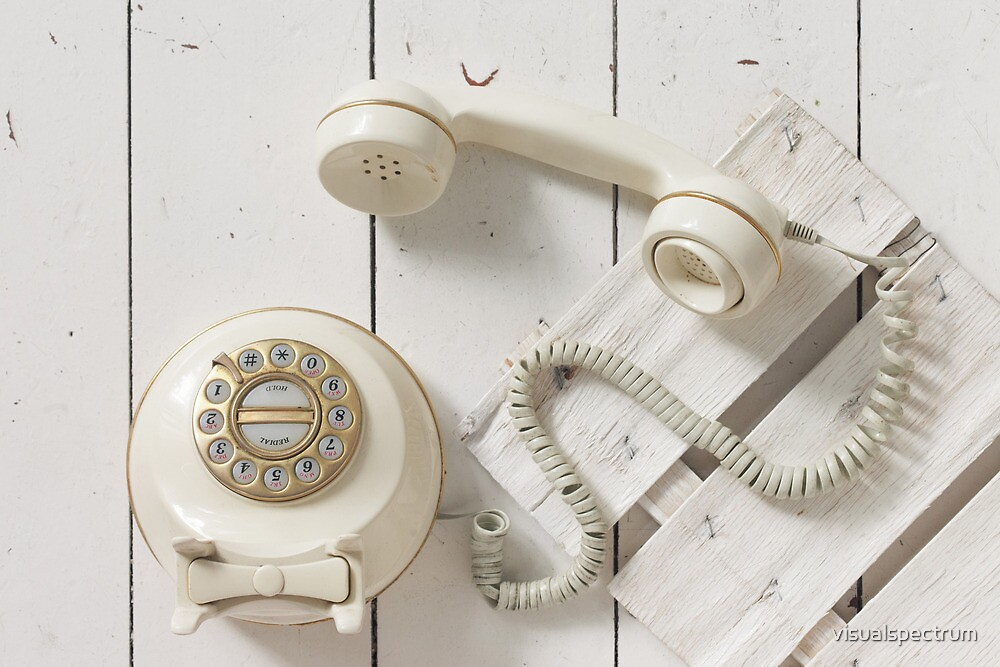 Vintage Rotary Dial Telephone by visualspectrum